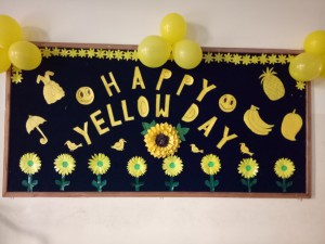 Yellow Colour Day Celebrated on 3-02-2018