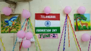 Telangana formation day celebration on 2.07.2018